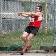 Throwing at the Swiss Club Championships (photo by Fritz Berger)