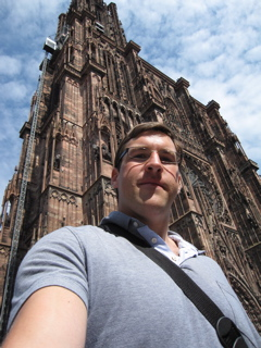 At the Notre Dame de Strasbourg Cathedral