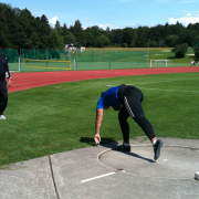Olympic champion Valerie Adams training with Jean-Pierre Egger.