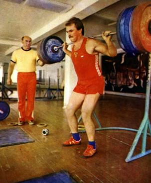 Yuriy Sedykh performing the Litvinov workout in the late 1970s.