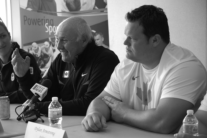 Bondarchuk and Dylan Armstrong. Photo by Kamloops This Week.