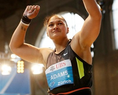 Two-time Olympic champion Valerie Adams competing in Zurich last Wednesday.