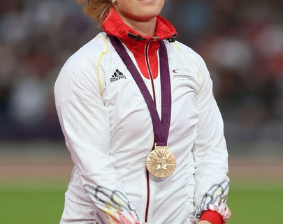 She may be trying to smile, but we all know Heidler wasn't satisfied with a bronze in London and will be looking for more this year. Photo by Getty Images.