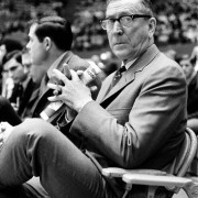 Good coaching is not about yelling and inspiring as much as it is about teaching. Take John Wooden as an example. Photo by AP.