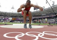 Ashton Eaton's unconventional shot put technique uses his strengths to eliminate his liabilities