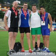 The top four finishers at the 2013 Swiss Championships.
