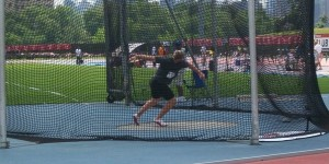 Former NAIA champion Jared Schuurmans is now one of the top discus throwers in America.