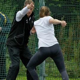 Hafsteinsson coaching at a workshop in Ireland. Photo courtesy of Athletics Ireland.