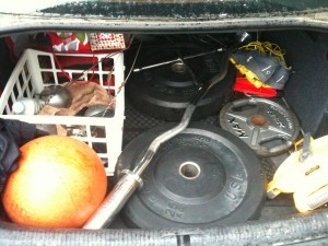 My car's trunk on a road trip last year. Plan ahead to make sure you'll have what you need.