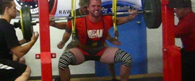 Translator Jake Jensen is also a competitive powerlifter. He recently squatted 584 pounds.