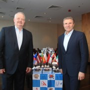 Tamm with his boss, IAAF Vice President Sergey Bubka.