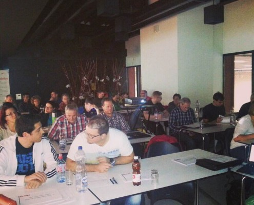 28 coaches eager learn at the first Swiss seminar. Sign up to join in on the fun.