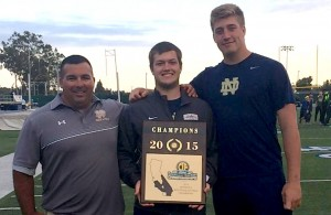 Nick Garcia helped lead Notre Dame high school to its 10th CIF South Section title last weekend.