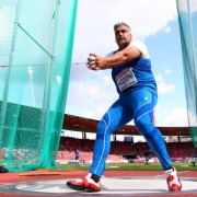 ZURICH, SWITZERLAND - AUGUST 14:  Nicola Vizzoni of Italy competes in the Men's Hammer qualification during day three of the 22nd European Athletics Championships at Stadium Letzigrund on August 14, 2014 in Zurich, Switzerland.  (Photo by Ian Walton/Getty Images)