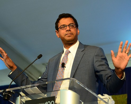 DANVILLE, PA - SEPTEMBER 25:  Professor Atul Gawande, M.D. delivers speech during Geisinger Health System  A Century of Transformation and Innovation Symposium at Pine Barn Inn on September 25, 2015 in Danville, Pennsylvania.  (Photo by Lisa Lake/Getty Images for Geisinger Health System)