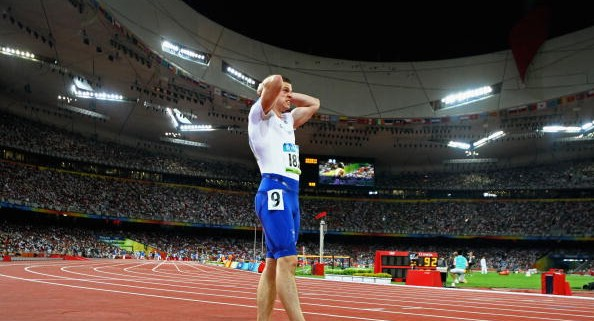BEIJING - AUGUST 15:  Craig Pickering of Great Britain competes in the Men's 100m Heats at the National Stadium on Day 7 of the Beijing 2008 Olympic Games on August 15, 2008 in Beijing, China.  (Photo by Alexander Hassenstein/Bongarts/Getty Images)