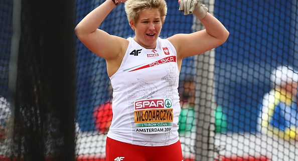 AMSTERDAM, NETHERLANDS - JULY 08:  Anita Wlodarczyk of Poland reacts during the final of the womens hammer on day three of The 23rd European Athletics Championships at Olympic Stadium on July 8, 2016 in Amsterdam, Netherlands.  (Photo by Dean Mouhtaropoulos/Getty Images)