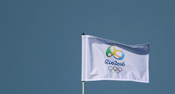 RIO DE JANEIRO, BRAZIL - AUGUST 05:  A pin flag flies during a practice round at the Olympic Golf Course prior to the Rio 2016 Olympic Games on August 5, 2016 in Rio de Janeiro, Brazil.  (Photo by Scott Halleran/Getty Images)