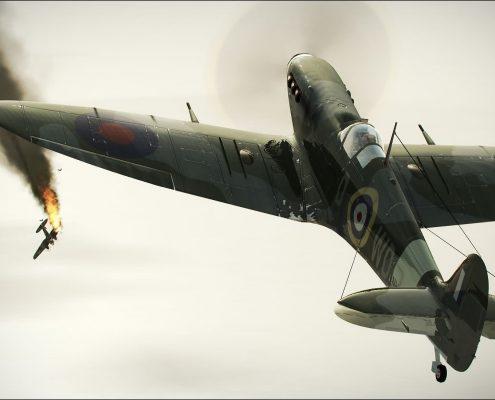 airplane-dogfight-drawing-plane-smoke-world-war-wwii