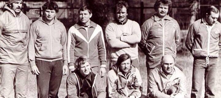 Some of the all-time best throwers together at a Soviet training camp in the 1980s.