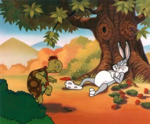 The question of how to divide volume is the similar to the age old tortoise and the hare fable.