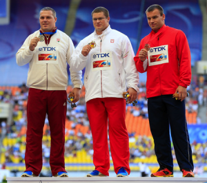 Pars (left) and Fajdek (middle) are starting to establish an intesne rivalry. All three medalists from the World Championships will face off at the European Championships in Zurich this year.